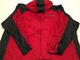 Men's Chaps Ralph Lauren Red/Navy Blue Windbreaker Jacket Size 2XL Ponch... - $29.39