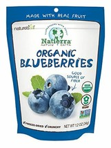 NATIERRA Nature's All Foods Organic Freeze-Dried Blueberries | Non-GMO &... - $10.78