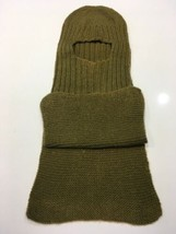 Original WWII U.S. WOOL Wife Mother made WINTER COLD WEATHER HAT OD Bala... - $23.36