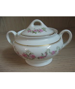 Bavaria #37 Sugar Bowl with Lid Pink Rose Swag With Gold Design   - $9.95