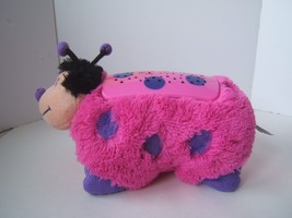 Dream Lites Pillow Pets Pink Purple Ladybug Night Light Star Projector P... - $13.82