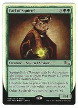 Magic the Gathering MTG Promo Card Earl of Squirrel Unstable Release Card - $5.25
