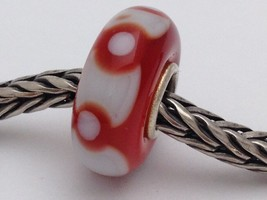 Authentic Trollbeads Ooak Universal Unique 144 Murano Glass Bead Charm F... - $34.90