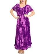 LA LEELA Women's Casual Loose Beach Sundress Sleeve Dresses Kaftan Cover... - $23.97