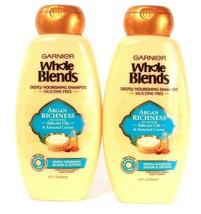2 Ct Garnier 22 Oz Whole Blends Argan Richness Almond Creme Nourishing Shampoo - $24.99