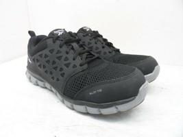 Reebok Work Women's Sublite Safety Cushion Work Shoes RB041 Black/Grey S... - $64.12