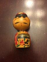 Kokeshi Doll Nodder Handpainted Wooden Japanese... - $5.93