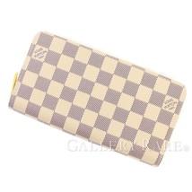 LOUIS VUITTON Zippy Wallet Damier Canvas Azur N41660 Spain Authentic 550... - $714.09