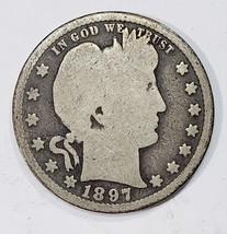 1897S Barber Quarter 25¢ Silver Liberty Head Coin Lot# MZ 4836