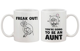 Freak Out You Are Going To Be An Aunt Cute Mug Baby Announcement Gift fo... - €13,18 EUR