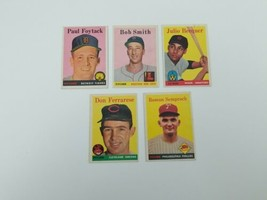 1958 Topps Baseball Cards Lot of 5 #282,445,458,469,474 Vg-Ex Tigers Red... - $13.54