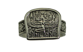 New Egyptian Isis Goddess Sterling silver 925 hieroglyphics Ring egypt J... - $41.26