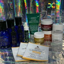 Kiehl's MIDNIGHT RECOVERY + Masks Lot 15 Pcs + Water Resistant Travel Zip Up Bag
