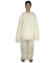 Furry Dog Collection | Men's White Furry Dog Costume with Tail HC-1685 - $122.85