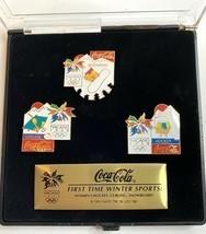 1998 Nagano Olympics Coca Cola Pin Set Hockey Snowboarding Curling COLLE... - £21.37 GBP