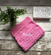 Handmade Crochet Kitchen Dish Cloths Pastel Pink Dishcloths Wash Cloths ... - $18.75