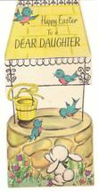 Vintage Easter Card Well Bluebirds Daughter American Greeting Die Cut - $5.93