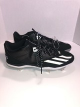 Adidas lite strikes cleats F37751 Black And White Size : 13 - $15.98