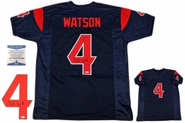 Deshaun Watson Autographed SIGNED Jersey - Beckett Authentic - Navy / Red - $227.69