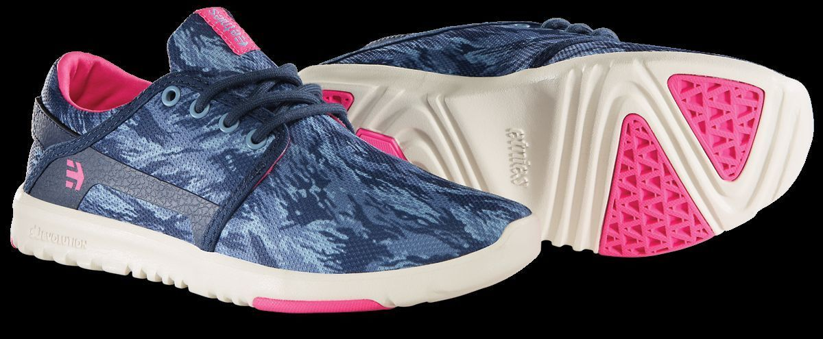 WOMENS ETNIES SCOUT RUNNING CROSS TRAINING SHOES NIB NAVY BLUE PINK