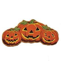 4Rissa Friendly Pumpkins Front Door Mat Coco Fiber Coir Indoor Outdoor H... - $26.45
