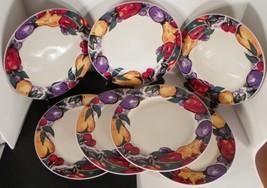 Gibson Designs CORNUCOPIA Dinner Plate (s) LOT OF 7 Fruit on Lattice - $39.55