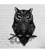 ikonikahome Owl Metal Wall Decor Metal Wall Art Decor 3D Metal Sculpture... - €89,86 EUR