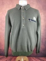 Vintage 1990s Polo Sportsman Ralph Lauren Fleece Pullover (L) Olive Green - $41.99