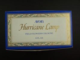 Avon Decanter Hurricane Lamp Field Flowers Cologne 6 Fl Oz Original Box ... - $23.95