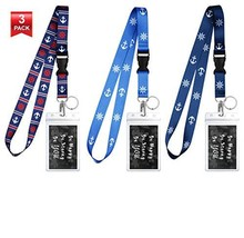 3-Pack Assorted Designs Lanyards with ID Holder & Key Ring for Keys, Cru... - $13.83