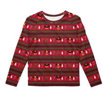 Christmas Mickey & Minnie Sweater Pattern Disney Inspired Kids Longsleeve Cotton - $39.99 - $42.99