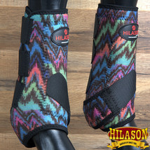 M- Hilason Zig Zag Horse Rear Leg Protection Ultimate Sports Boots Pair U-IG-M - $49.95