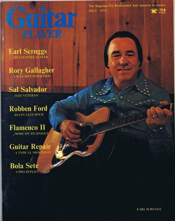 Primary image for Guitar Player Magazine July 1974 Earl Scruggs Rory Gallagher No Label