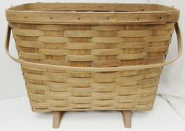 "Longaberger Longaberger Magazine Newspaper Basket 15.5""X8.5""X12"" - $29.99"