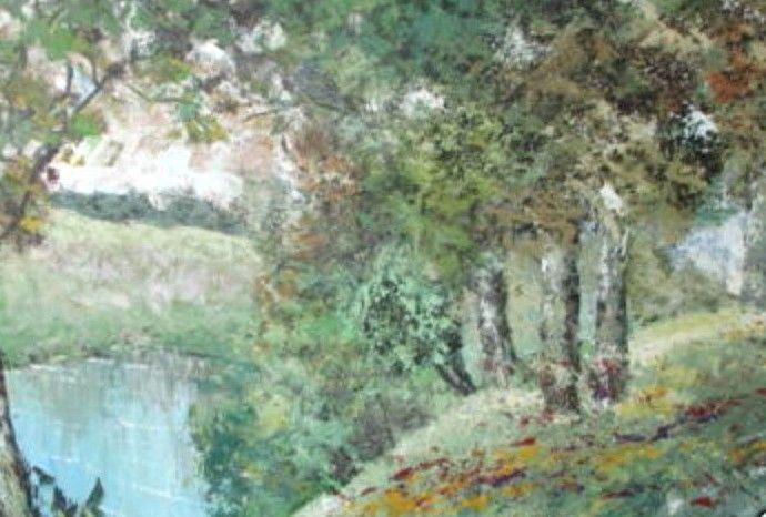 River's Edge by Jose Cortez; Original Oil on Canvas