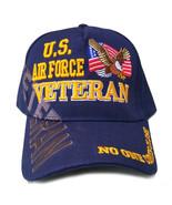 US Air Force Veteran Hat Blue w/ Flag Eagle Logo - $12.95