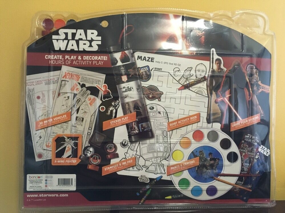Star Wars The Force Awakens Create and Play Activity Kit 3+ Disney NEW