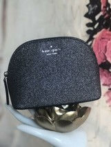 KATE SPADE NWT SMALL DOME COSMETIC POUCH BAG CASE JOELEY DUSK NAVY SPARKLE - $39.00