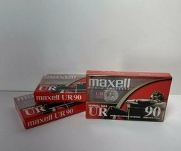 Blank Audio Cassette Maxwell UR90 Lot of 3 Tapes Sealed 90 Min. NEW - $8.99