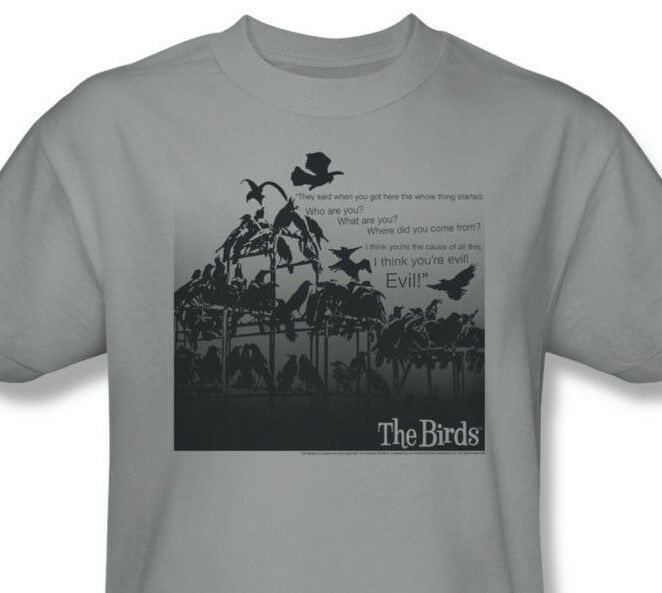 The Birds T-shirt Alfred Hitchcock retro classic horror movie cotton tee UNI232