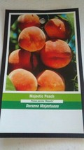 Majestic Peach 4-6 Ft Tree Plant Sweet Juicy Peaches Fruit Trees Plants - $96.95