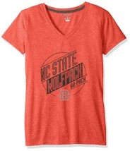 NWT NCAA North Carolina State Wolfpack Women's XL Red V-Neck Tee Shirt - $20.78