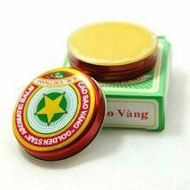 10pcs Golden Star Tiger Balm Headache Menthol Relief Balm Vietnam Headache image 4