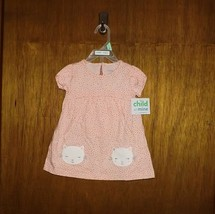Carter's Child of Mine Peach with Kitty 2 Pc Dress  - $12.99