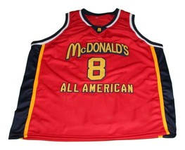 Kobe Bryant #8 McDonald's All American Basketball Jersey Red Any Size image 3