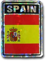 ALBATROS Spain Spanish Country Flag Reflective Decal Bumper Sticker for ... - $15.02