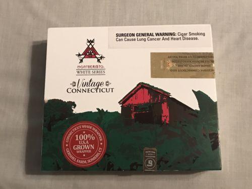MONTECRISTO WHITE SERIES ~ VINTAGE CONNECTICUT ~ No. 3 ~ Empty Wooden Cigar  Box -  13.09 8171d02597aef