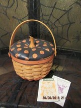 LONGABERGER BASKET 1996 HALLOWEEN SMALL PUMPKIN COMBO RETIRED - $125.00
