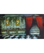 6-Ft. Creepy Haunted Room in a Castle Silhouette Halloween Wall Murale - $4.94