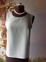 JM Collection Sleeveless Women's  Blouse Camisole Light Blue Size Small - $18.81